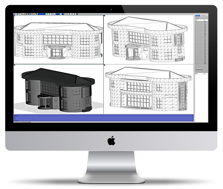 different perspectives on an iMac - cad software for Mac