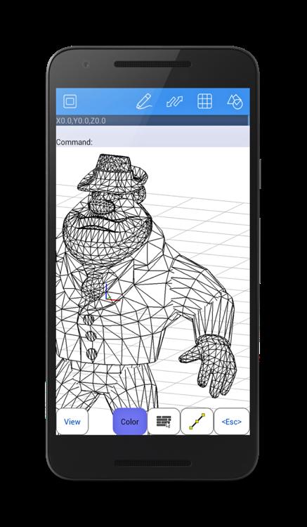 3d design on a smartphone