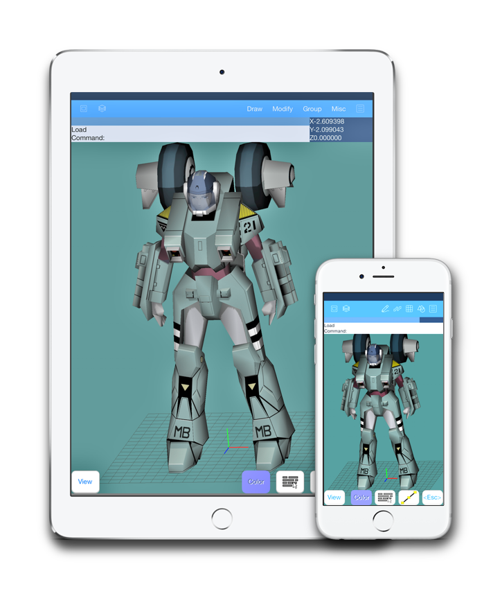 3d robot on the iPad - cad software on the iPad